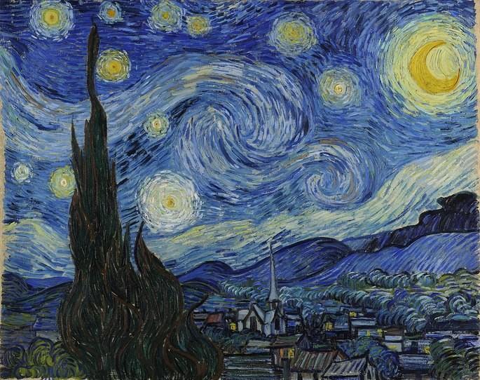 'Звёздная ночь', художник Винсент ван Гог, 1889 г.