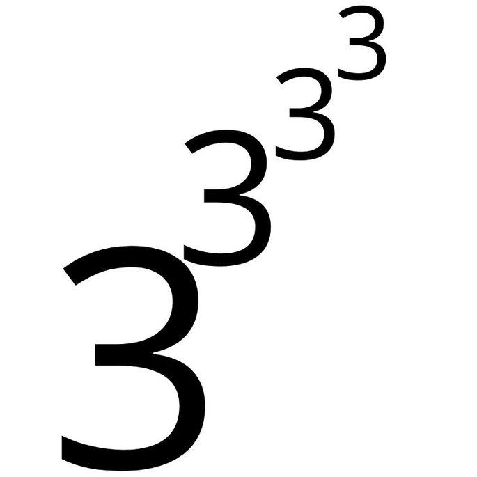 3 в степени 3, в степени 3, в степени 3