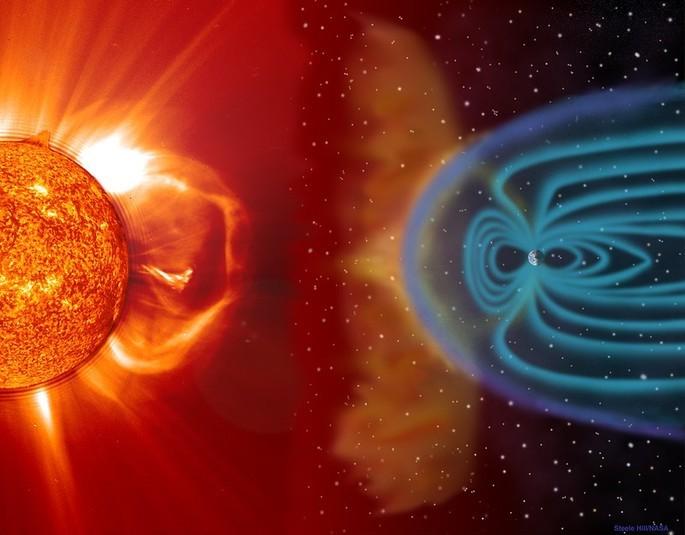 Магнитное поле Земли рисунок NASA