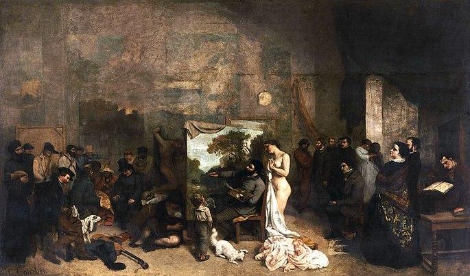 'Мастерская художника', Гюстав Курбе, 1855 гг.