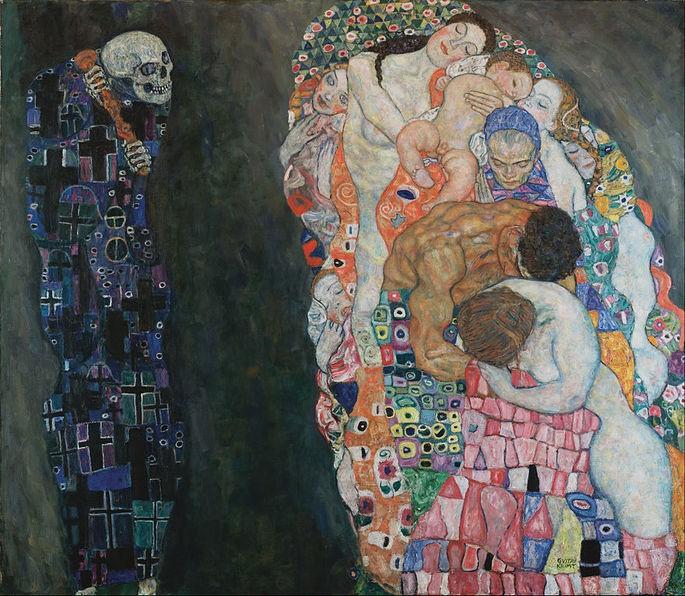 'Жизнь и смерть', художник Густав Климт, (1908 – 1911)
