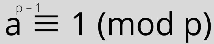 a^(p-1)=1(modp)
