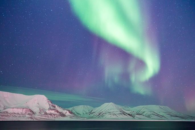 полярное сияние северное сияние