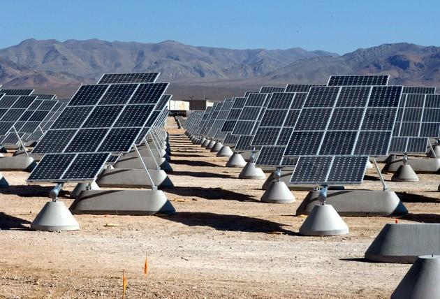 фотоэлектрическая солнечная электростанция США ВВС Неллис