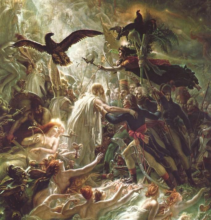 Картина Анна-Луи Жироде де Русси-Триозона 'Апофеоз французских героев, павших в войне за независимость родины'