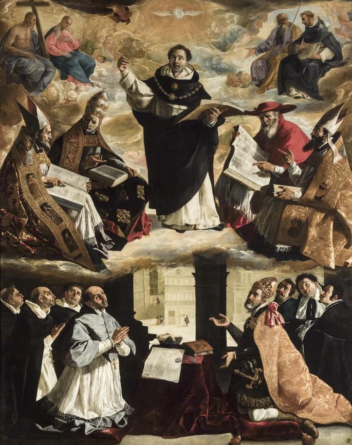 Картина Франсиско де Сурбарана 'Апофеоз св. Фомы Аквинского'
