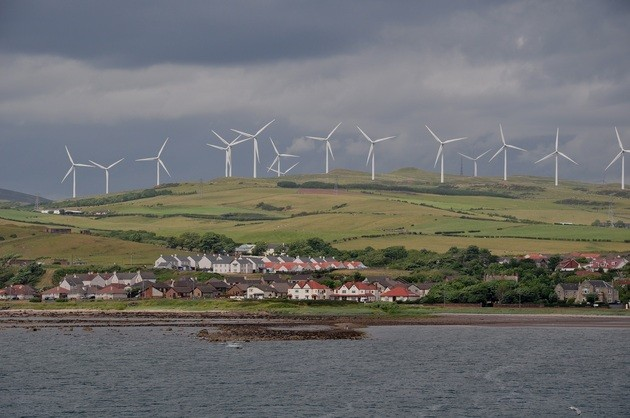 Ветряная электростанция Ардроссан Шотландия