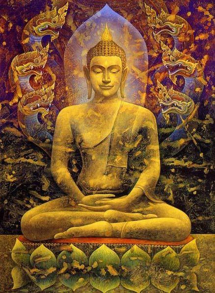 Иллюстрация Будды во время медитации