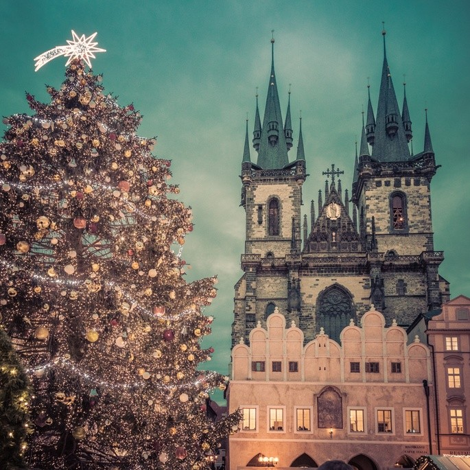 'Рождество в Праге', Чехия, фотограф Petr Kratochvil