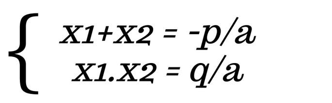 x1+x2 = −p/а и x1. x2 = q/а