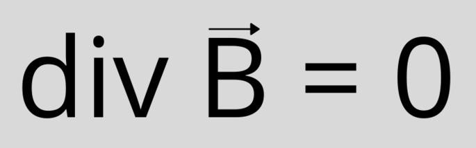 Третье уравнение Максвелла (в дифференциальной форме): div B = 0