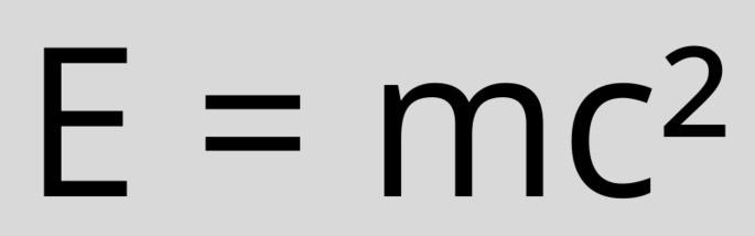 формула Эйнштейна E = mc²