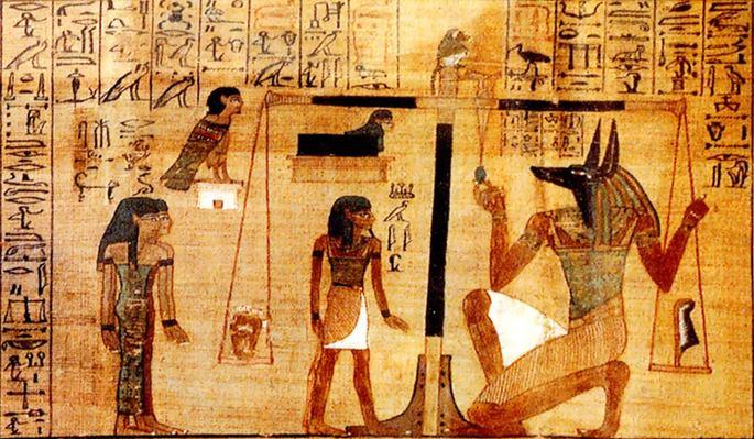 'Суд Осириса' из Книги Мёртвых