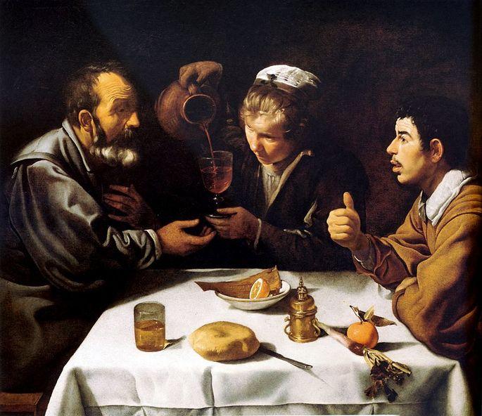 'Крестьянский обед', испанский художник Диего Веласкес, ок. 1617 г.