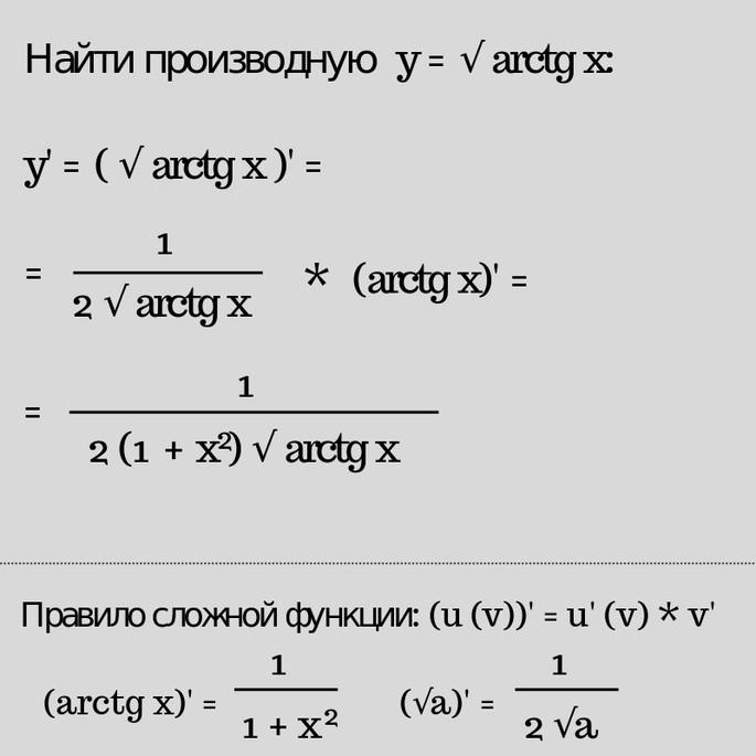 производная пример сложной функции