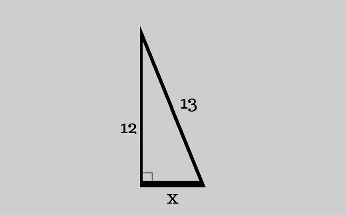 прямоугольный треугольник: один катет-12, другой катет - x, гипотенуза-13
