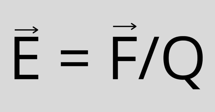 напряженность электрического поля формула E = F/Q