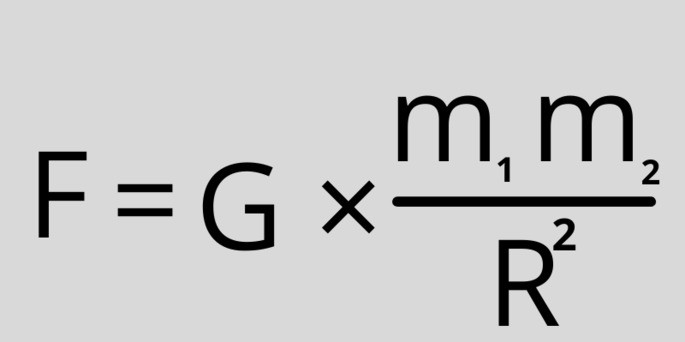 Гравитационная постоянная 'G', F= G*(m1.m2)/r^2