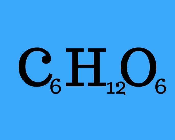 формула глюкóзы (ещё называется декстроза)