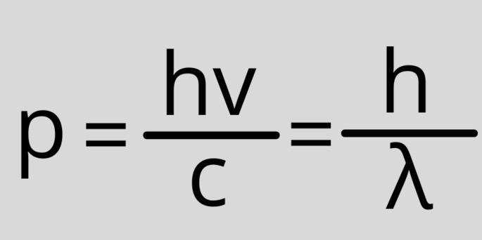 Импульс фотона формула p=hv/c=h/λ