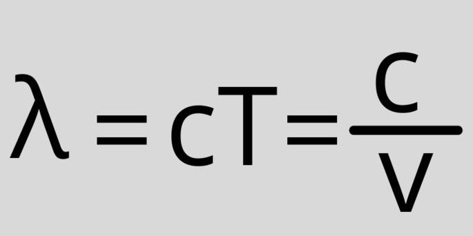 Длина волны света, период и частота λ = cT = c/v