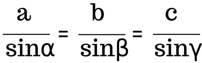 (a/sinα)=(b/sinβ)=(c/sinγ)
