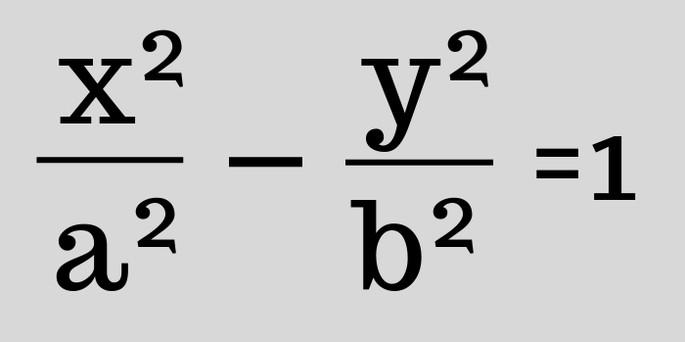 Каноническое уравнение гиперболы формула гиперболы (x²/a²) - (y²/b²) = 1