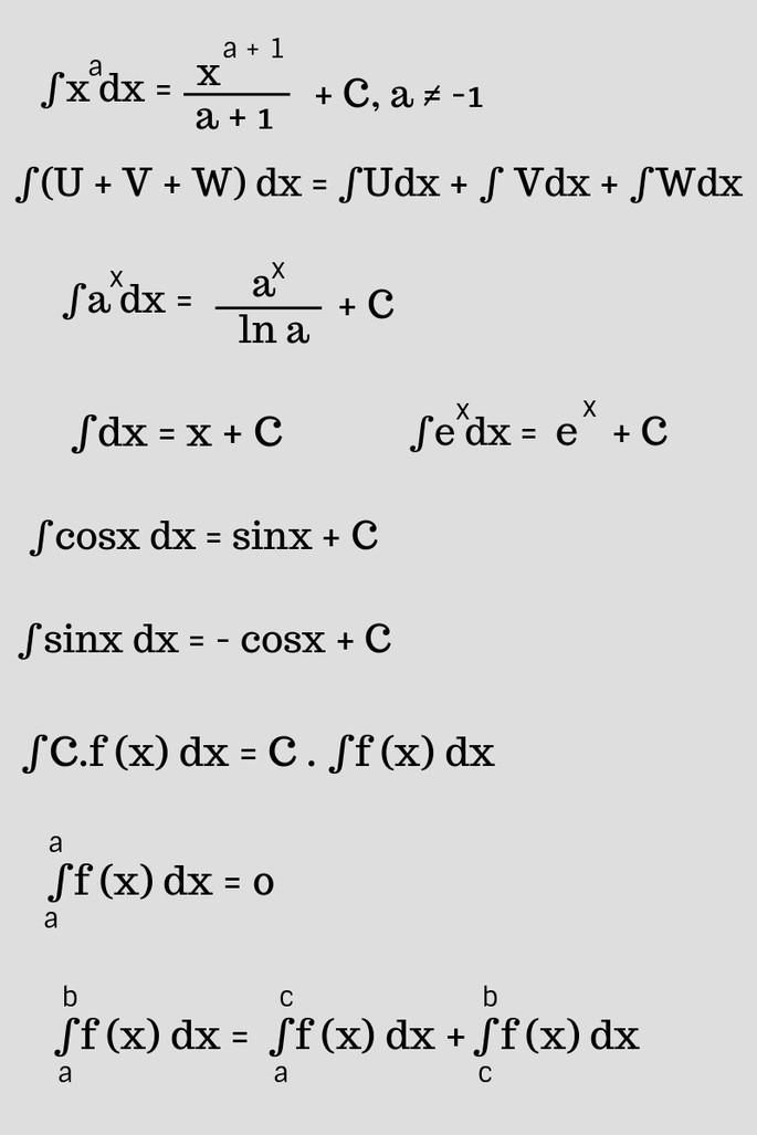 формула интеграла интеграл формулы