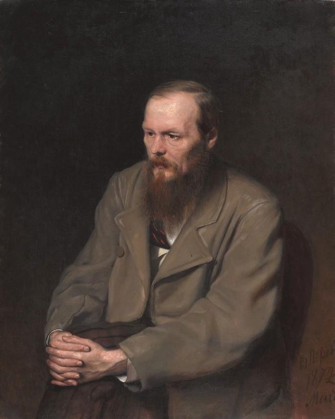 Портрет Ф.М.Достоевского, созданный русским художником В.Г.Перовым в 1872 году