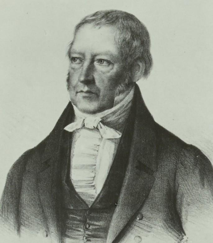 Немецкий философ Георг Фридрих Вильгельм Гегель (1770–1831)