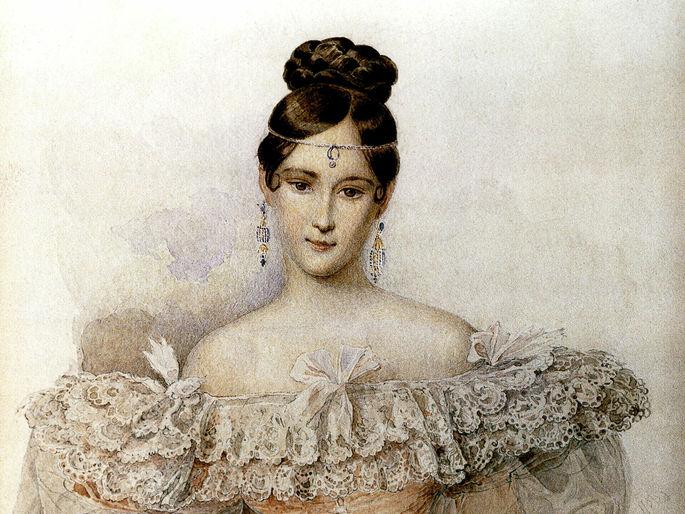 Портрет Натальи Гончаровой, жены Пушкина
