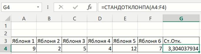 Формулы вычисления стандартного отклонения sigma сигма стандартное отклонение в эксель excel