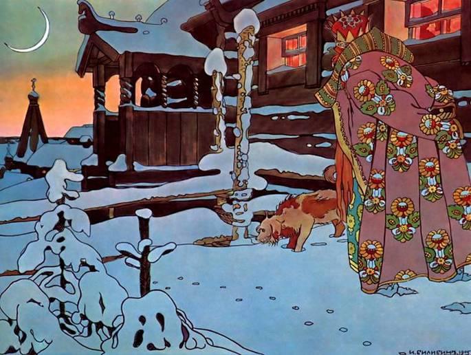 Иллюстратор Иван Яковлевич Билибин, иллюстрация к 'Сказке о царе Салтане', 1904 г.