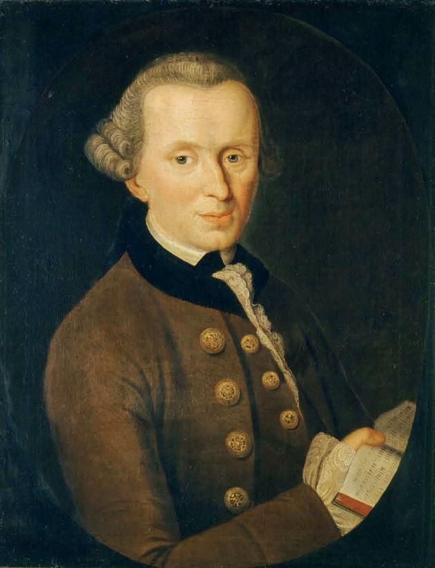 Портрет Иммануила Канта (1724-1804), художник Иоганн Готтлиб Беккер, 1768 год