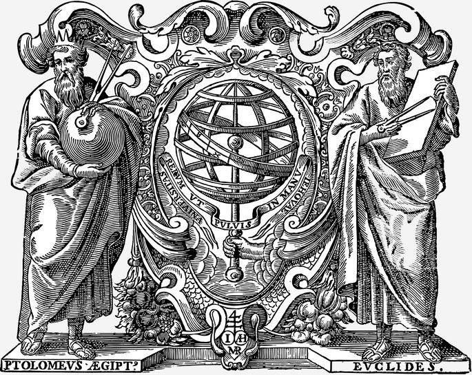 Фигуры Клавдия Птолемея и Эвклида