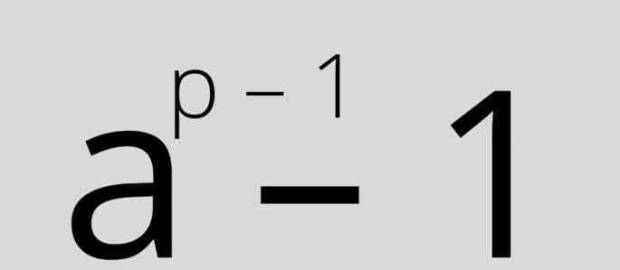 a^(p-1) - 1