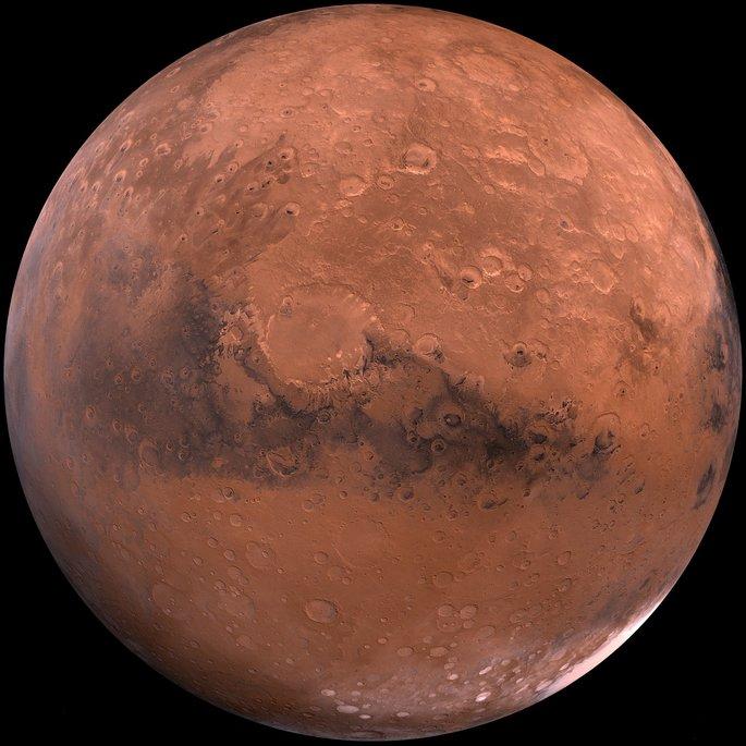 Планета Марс в Солнечной системе