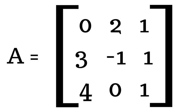 найти определитель матрицы 3 × 3 шаг 1