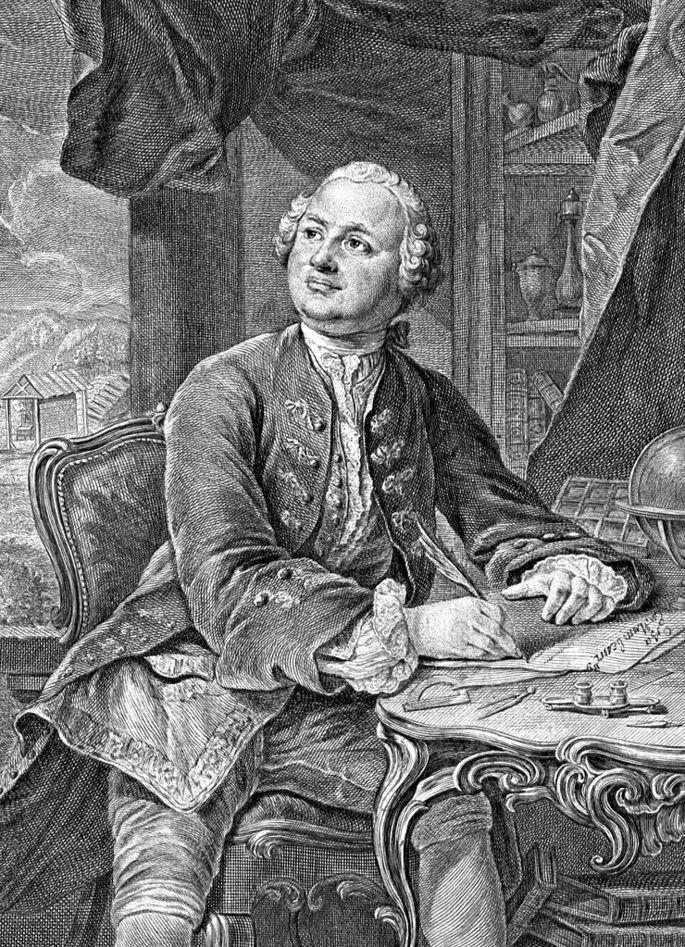 Прижизненное изображение М. В. Ломоносова (1711 – 1765), Э. Фессар и К. А. Вортман. 1757 г.