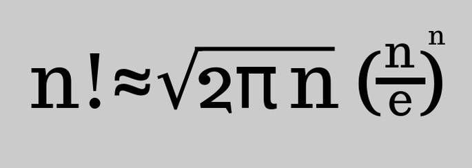 Формула Муавра — Стирлинга