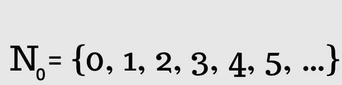 Натуральные числа с нулём