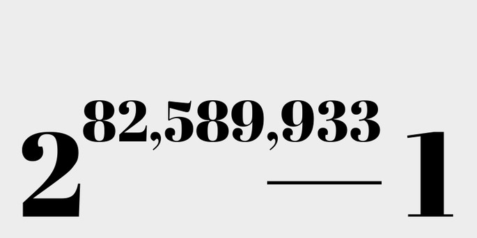(2 в степени 82,589,933) минус 1