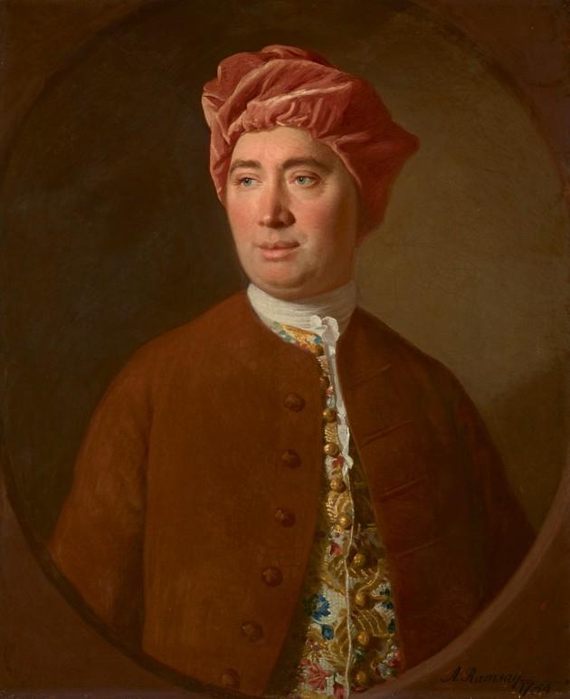Портрет Дэвида Юма, художник Аллан Рэмзи, 1754 год