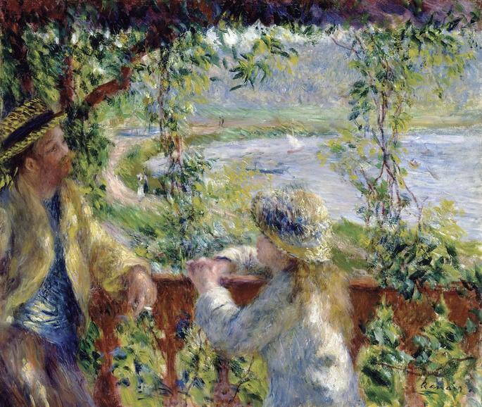 Пьер Огюст Ренуар у озера