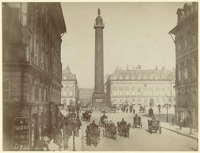Вандомская колонна, Париж, архитекторы Жан-Батист Лепер и Жак Гондуэн