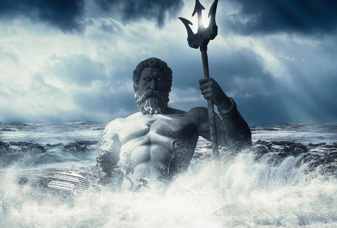 Изображение Посейдона, правит морем