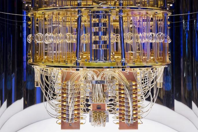 квантовый компьютер изнутри; фото IBM Research