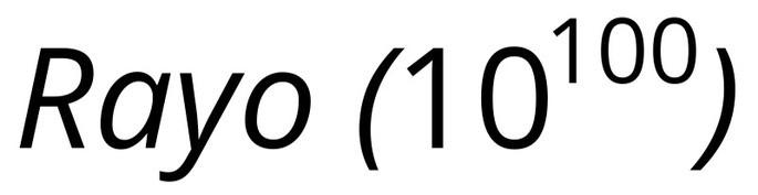 число Райо : Rayo (10^100)