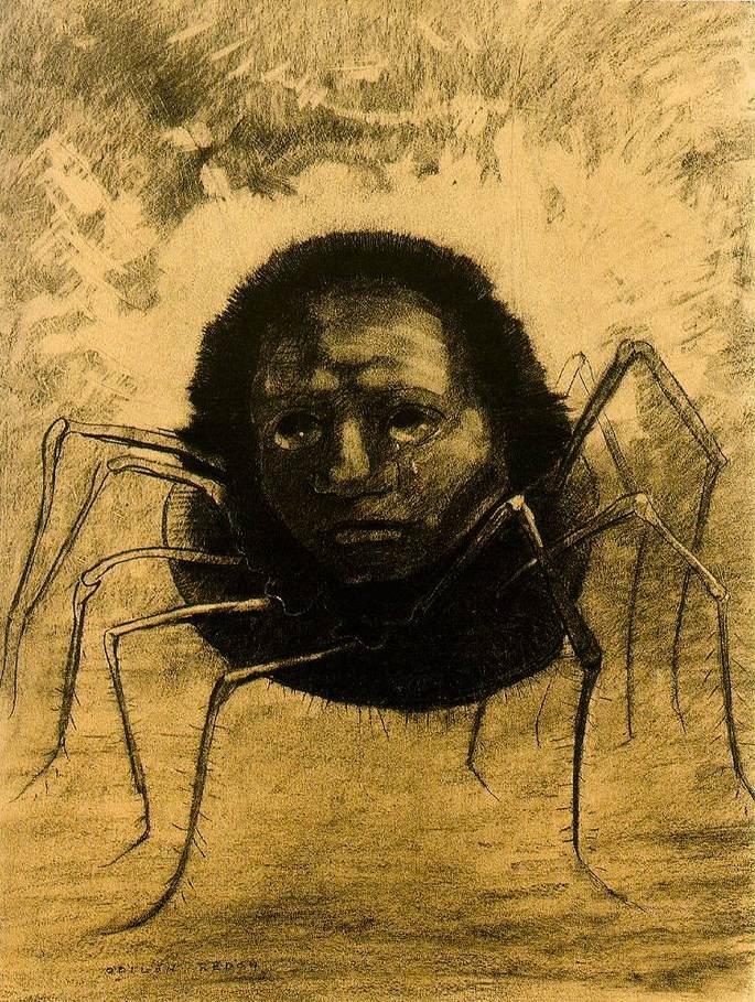 рисунок паука с человеческим лицом со слезами, Плачущий паук
