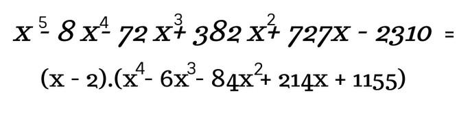 Интерпретация полученного результата по схеме Горнера